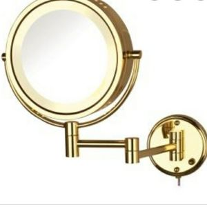 Jerdon Swivel 4x Magnifying Wall Mount Mirror